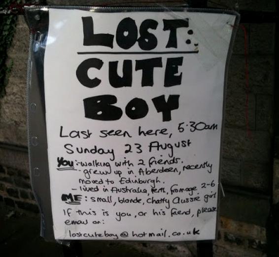 Lost cute boy