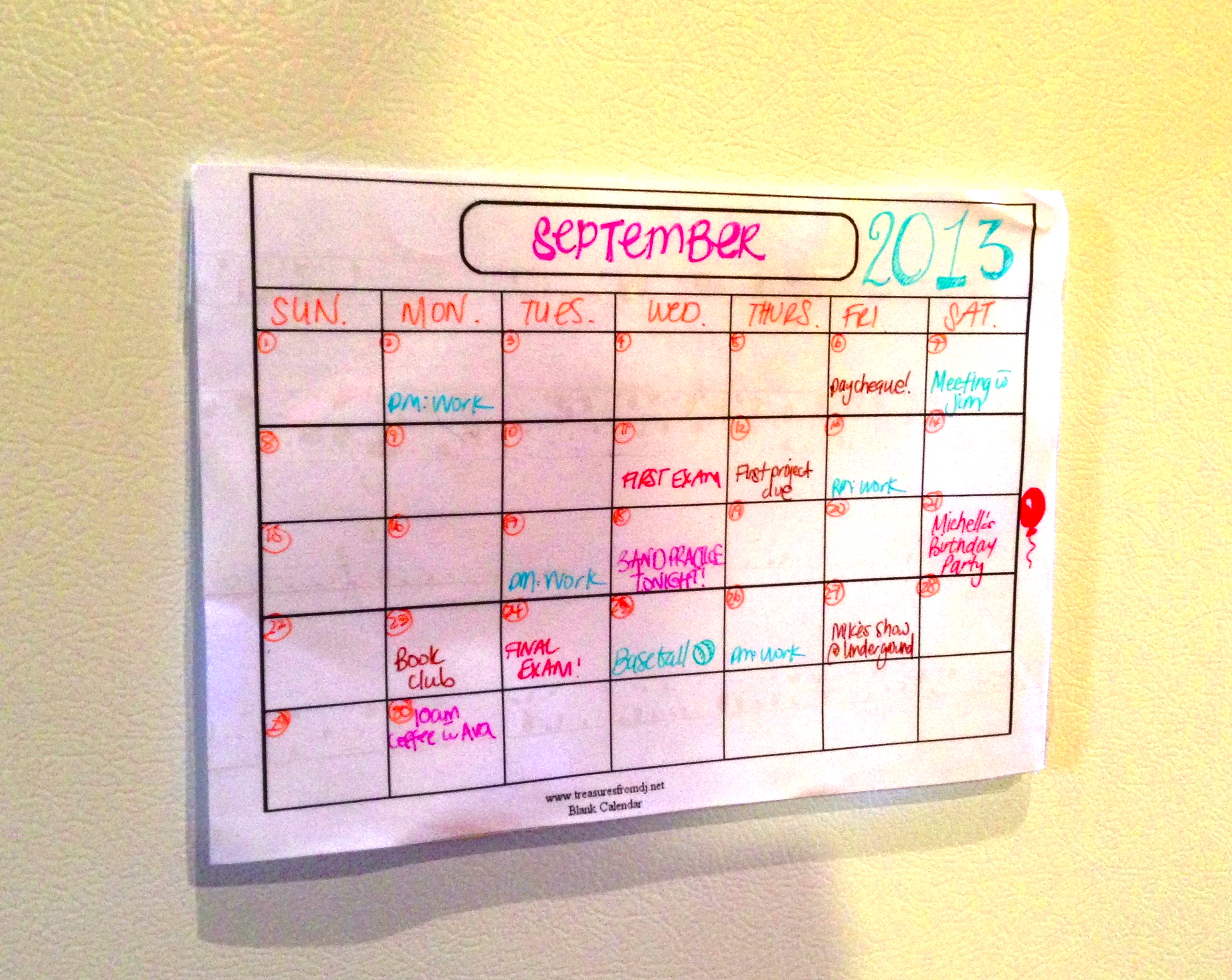 How To Diy Calendar : Diy dry erase calendar bandit tape gun